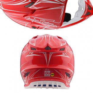 Troy Lee Designs SE4 Polyacrylite Helmet - Pinstripe Red Image 3