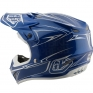 Troy Lee Designs SE4 Polyacrylite Helmet - Pinstripe Blue
