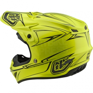 Troy Lee Designs SE4 Polyacrylite Helmet - Pinstripe Yellow Image 2