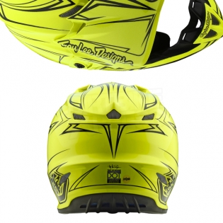 Troy Lee Designs SE4 Polyacrylite Helmet - Pinstripe Yellow Image 3