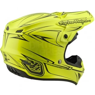 Troy Lee Designs SE4 Polyacrylite Helmet - Pinstripe Yellow Image 4