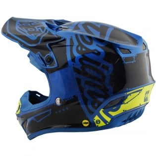 Troy Lee Designs SE4 Polyacrylite Helmet - Factory Blue Image 2