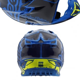 Troy Lee Designs SE4 Polyacrylite Helmet - Factory Blue Image 3