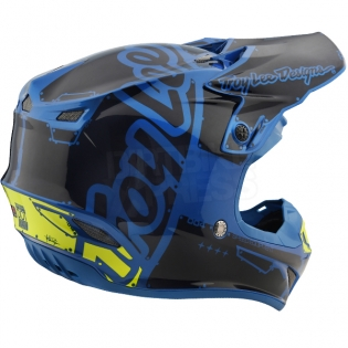 Troy Lee Designs SE4 Polyacrylite Helmet - Factory Blue Image 4