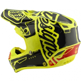 Troy Lee Designs SE4 Polyacrylite Helmet - Factory Yellow Image 2