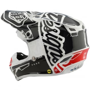 Troy Lee Designs SE4 Polyacrylite Helmet - Factory White Image 2