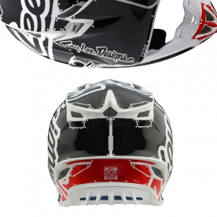 Troy Lee Designs SE4 Polyacrylite Kids Helmet - Factory White Image 3