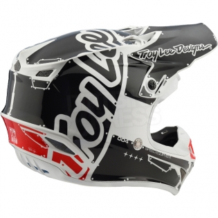 Troy Lee Designs SE4 Polyacrylite Kids Helmet - Factory White Image 4