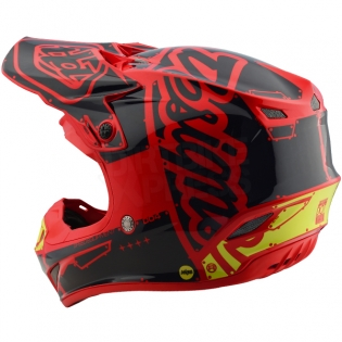 Troy Lee Designs SE4 Polyacrylite Kids Helmet - Factory Red Image 2