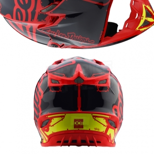 Troy Lee Designs SE4 Polyacrylite Kids Helmet - Factory Red Image 3