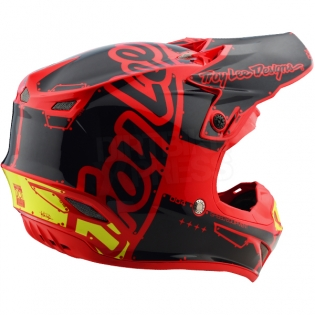 Troy Lee Designs SE4 Polyacrylite Kids Helmet - Factory Red Image 4