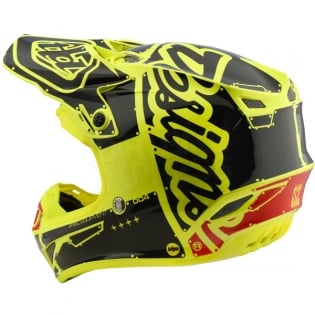 Troy Lee Designs SE4 Polyacrylite Kids Helmet - Factory Yellow Image 2