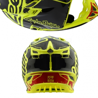 Troy Lee Designs SE4 Polyacrylite Kids Helmet - Factory Yellow Image 3
