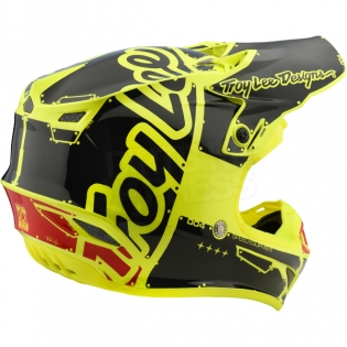 Troy Lee Designs SE4 Polyacrylite Kids Helmet - Factory Yellow Image 4