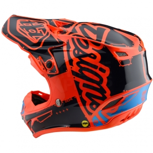 Troy Lee Designs SE4 Polyacrylite Kids Helmet - Factory Orange Image 2