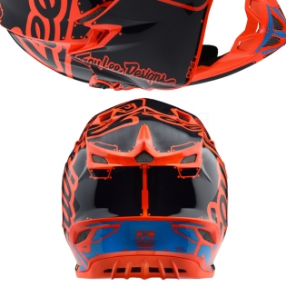 Troy Lee Designs SE4 Polyacrylite Kids Helmet - Factory Orange Image 3