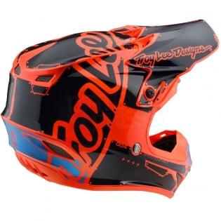 Troy Lee Designs SE4 Polyacrylite Kids Helmet - Factory Orange Image 4