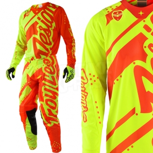 Troy Lee Designs SE Air Kit Combo - Shadow Flo Yellow Orange Image 2
