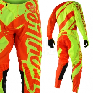 Troy Lee Designs SE Air Kit Combo - Shadow Flo Yellow Orange Image 4