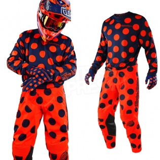Troy Lee Designs GP Air Kit Combo - Polka Dot Navy Orange Image 3