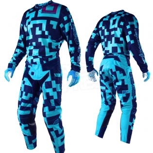 Troy Lee Designs GP Air Kit Combo - Maze Turquoise Navy Image 3