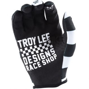 Troy Lee Designs GP Air Gloves - Checker Black White Image 3