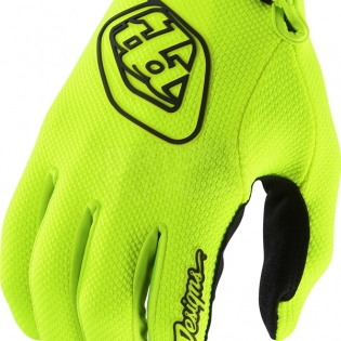 Troy Lee Designs Air Kids Gloves - Solid Flo Yellow Image 2