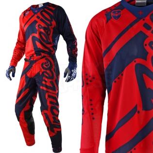 Troy Lee Designs SE Air Jersey - Shadow Red Navy Image 2