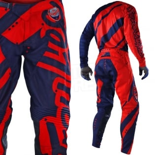 Troy Lee Designs SE Air Jersey - Shadow Red Navy Image 4