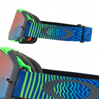 Oakley Airbrake MX Goggles - Shockwave Blue Green Prizm Image 3
