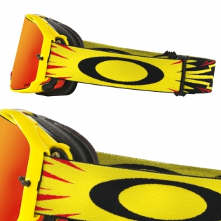 Oakley Airbrake MX Goggles - High Voltage Red Yellow Prizm Image 3