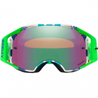 Oakley Airbrake MX Goggles - Pinned Race Blue Green Prizm Image 2