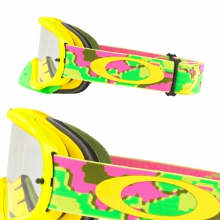 Oakley Crowbar Goggles - Thermo Camo Pink Yellow Green Image 3