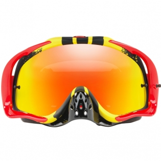 Oakley Crowbar Goggles - Pinned Race Red Yellow Fire Iridium Image 2
