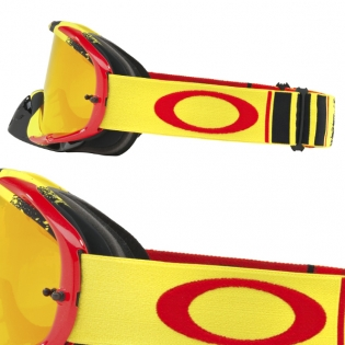 Oakley Crowbar Goggles - Pinned Race Red Yellow Fire Iridium Image 3