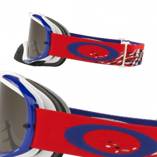 Oakley Crowbar Goggles - Checked Finish Red White Blue Image 3