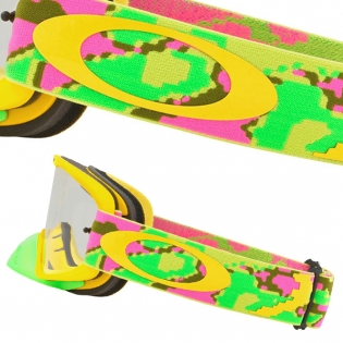 Oakley O Frame 2.0 Goggles - Thermo Camo Pink Yellow Green Image 3