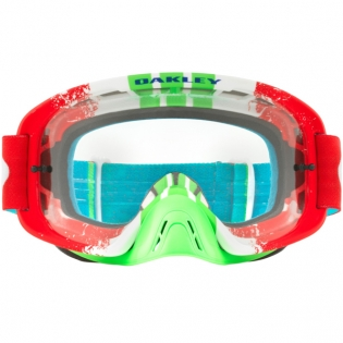 Oakley O Frame 2.0 Goggles - Pinned Race Red Green Clear Image 2