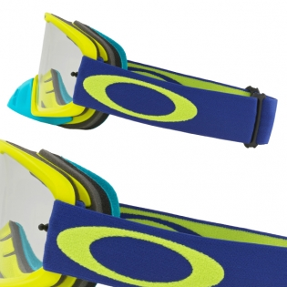 Oakley O Frame 2.0 Goggles - Flo Lime Blue Clear Dark Grey Image 3