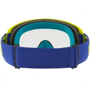 Oakley O Frame 2.0 Goggles - Flo Lime Blue Clear Dark Grey Image 4