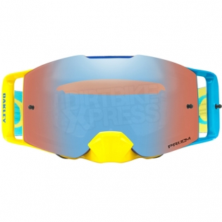 Oakley Front Line MX Goggles - High Voltage Blue Yellow Prizm Image 2