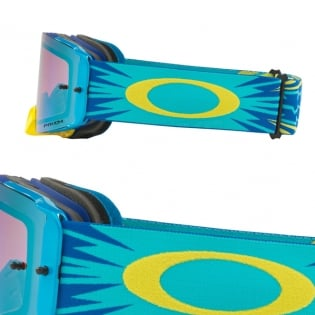 Oakley Front Line MX Goggles - High Voltage Blue Yellow Prizm Image 3