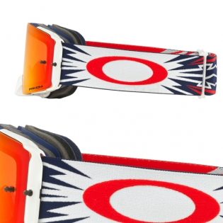 Oakley Front Line MX Goggles - High Voltage Red Navy Prizm Image 3