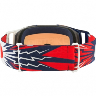 Oakley Front Line MX Goggles - High Voltage Red Navy Prizm Image 4