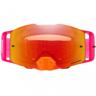 Oakley Front Line MX Goggles - Pinned Race Red Orange Prizm Image 2