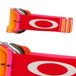 Oakley Front Line MX Goggles - Pinned Race Red Orange Prizm Image 3