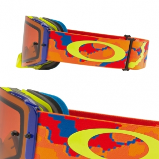 Oakley Front Line MX Goggles - Thermo Camo Orange Prizm Bronze Image 3