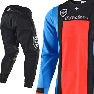 Troy Lee Designs SE Air Kit Combo - Squadra Cyan Orange Black Image 3