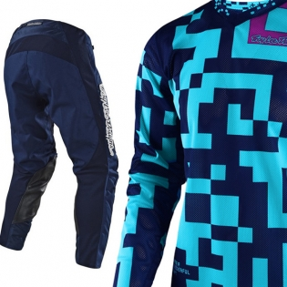 Troy Lee Designs GP Air Kit Combo - Maze Turquoise Navy Navy Image 3
