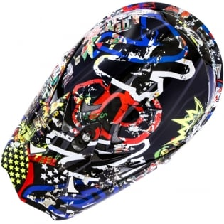 2018 ONeal 3 Series Motocross Helmet - Rancid Multi Image 2